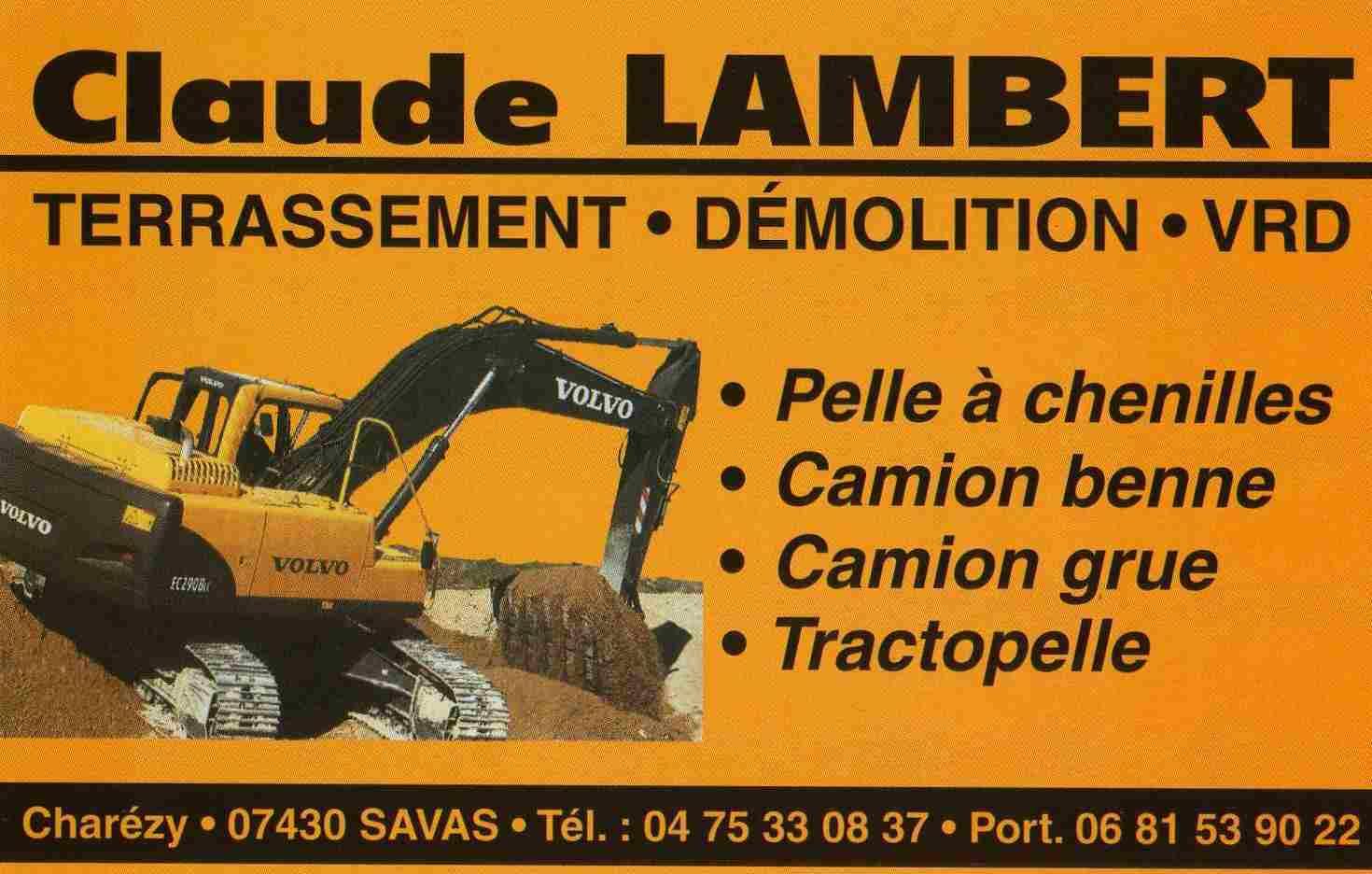 LAMBERT CLAUDE TP